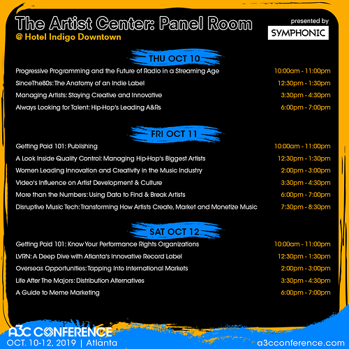 A3C Conference Schedules - The Artists Center Panel Room (2)